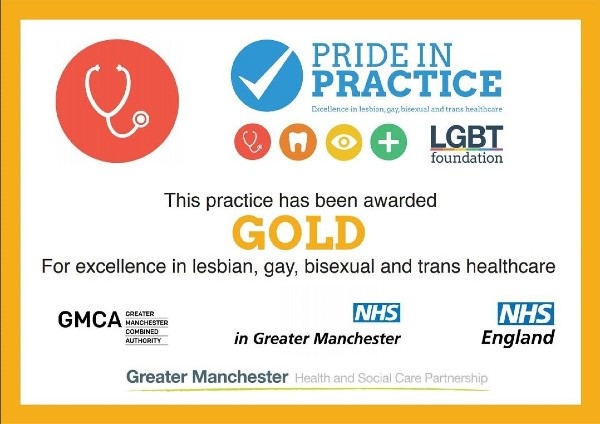 Pride in Practice Gold Award